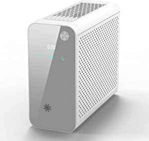 Air Purifier for Home Allergies and Pets Hair Smokers in Bedroom, H13 True HEPA Filter, 24db Filtration System Cleaner Odor Eliminators, Remove 99.97% Dust Smoke Mold Pollen, White (1, white)