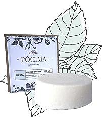 SHAMPOO en barra Pócima, Pureza Natural 100gr. Hecho con Aceite de Argán, Aceite de Coco, Aceite Esencial de Menta y Aloe Vera. Empaque Ecológico…