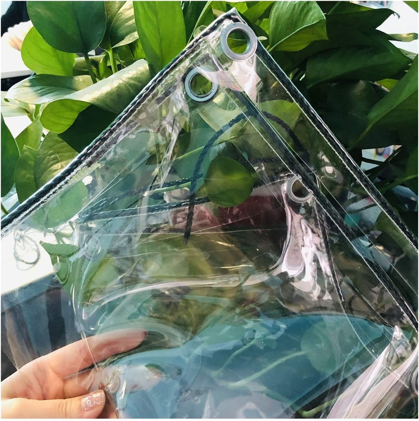 LSXIAO Max 66% OFF Heavy-Duty Tarp Cover Clear Waterproof Screen 0.3 Max 90% OFF Film