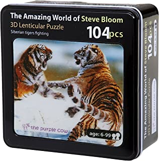 The Purple Cow– 60Piece Puzzle Photography by Steve Bloom Images. 3D Lenticular Siberian Tigers for Kids Puzzle Great Gift Idea for Christmas, Birthdays & All Occasions for Age 6 & Up