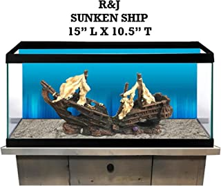 R&J Enterprises Sunken Treasure Ship Aquarium Decoration