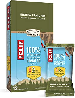 CLIF BARS - Energy Bars - Sierra Trail Mix - Made with Organic Oats - Plant Based Food - Vegetarian - Kosher (2.4 Ounce Pr...