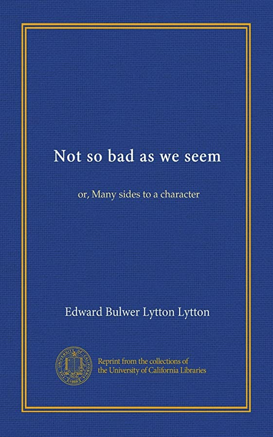 フルート神経異常なNot so bad as we seem: or, Many sides to a character