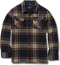 Volcom Boys' Big Randower Long Sleeve Flannel Button Up Shirt