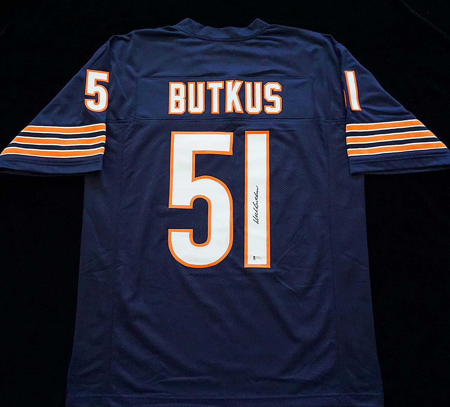 Dick Butkus Signed Autographed Blue Football Jersey with Beckett ...