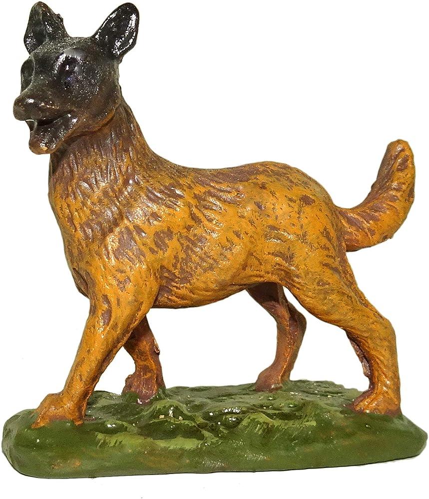Ferrari & arrighetti statuina per presepe: cane linea martino landi,10 cm 2410NA38