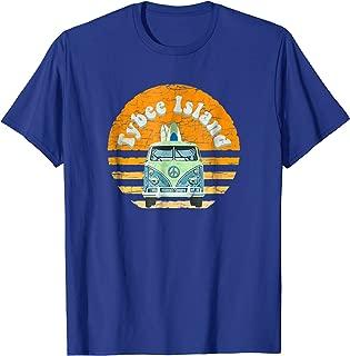 Vintage Tybee Island, GA Hippie Van Beach Bum Surfer T-Shirt