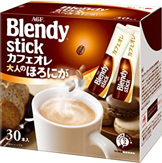 Blendy Stick Cafe Au Lait Slightly Bitter Taste 0.42oz X 30pcs