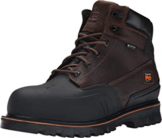 Timberland PRO Men's 6 inch Rigmaster XT Steel Toe WP Work Boot, Brown Tumbled Leather