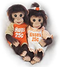 The Ashton-Drake Galleries Hugs and Kisses Poseable Lifelike Twin Monkey Doll Set: Ashton-Drake Galleries