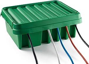 SOCKiT Box FL-1859-330-G Weatherproof Powercord Connection Box 330 Green