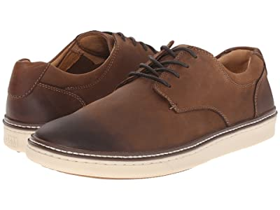 Johnston & Murphy McGuffey Casual Plain Toe Sneaker (Brown Oiled Full Grain) Men