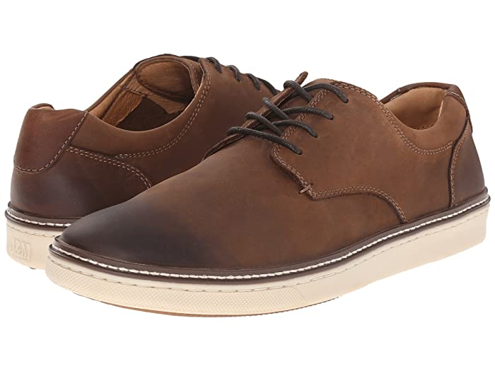 Johnston and Murphy  McGuffey Casual Plain Toe Sneaker (Brown Oiled Full Grain) Mens Lace up casual Shoes
