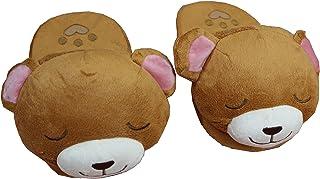Infispace® Girl's Non-Slip Warm Sleeping Bear Plush Slippers