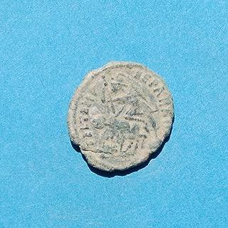 IT Roman Constantine II Emperor 337 to 340 AD, Roman Soldier Spearing Fallen Horseman #9 Coin Very Good