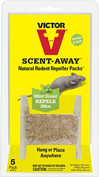 Victor M805 Scent Away Natural Rodent Repeller Packs 5 Bags Beige