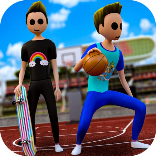 Summer Athletics Games Sports – Skateboarding & Basketball