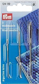 Prym 124119 Woll-und Smyrna-Nadeln ohne Spitze, ST 13 silber, 1 Stück