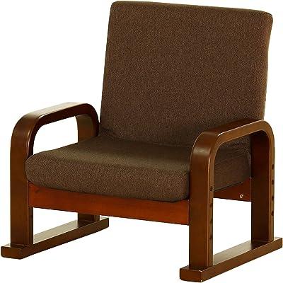 貞苅椅子製作所(Sadakari) スツール・チェア ブラウン 2WAY仕様 Care-406-ST 324482 幅56×高さ64cm