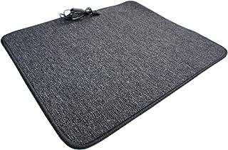 Alfombra calefactora por infrarrojos, 60 x 70 cm, color antracita, calentador de pies, gris