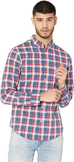 Long Sleeve P55 Check - Stretch