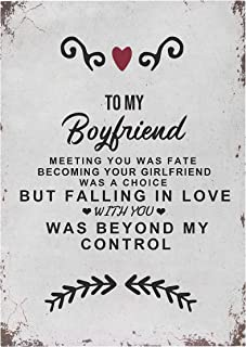 Kenon to My Boyfriend Personalized Wooden Sign with Saying - in Vintage Look with Quote as a Gift and Decoration on The Theme of Love, Personalized Painting Gifts for Boyfriend