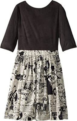 fiveloaves twofish Newsprint Abbie Dress (Little Kids/Big Kids)