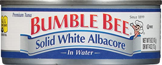 BUMBLE BEE Solid White Albacore Tuna Fish in Water, Canned Tuna Fish, High Protein Food,..