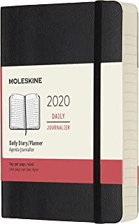 Moleskine Classic 12 Month 2020 Daily Planner, Soft Cover, Pocket (3.5