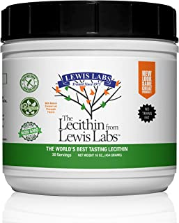 Lewis Labs Lecithin Granules 16 oz - Natural Soy Lecithin: Source of Phosphatidyl Choline, Vegan - Non-GMO ...