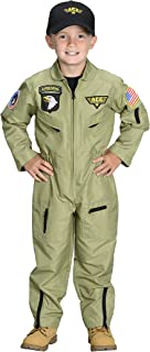 Aeromax Jr. Fighter Pilot Suit with Embroidered Cap, Size 4/6.