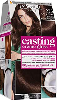 L'Oreal Paris Casting Crème Gloss No Ammonia Hair Color for shiny hair 323 Darkest Warm Brown