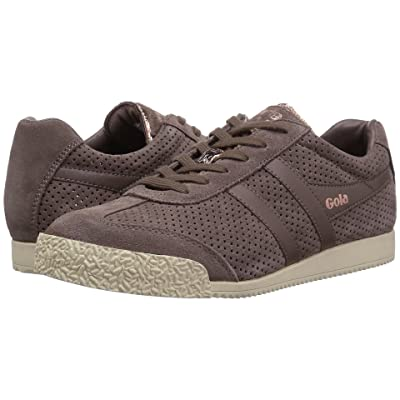 Gola Harrier Glimmer Suede (Taupe/Rose Gold/Off-White) Women