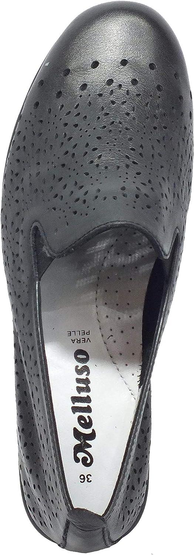 Melluso K55301 Nero Mocassini per Donna in Pelle con Sottopiede Memory Foam Soft Impact