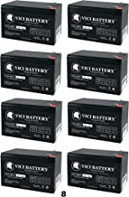 VICI Battery 12V 9Ah SLA Battery Replacement for Tripplite SMART3000RM2U - 8 Pack Brand Product