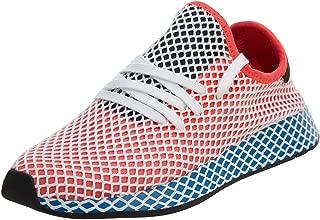adidas Mens Originals Deerupt Runner Solar Red/Blue Bird Mesh Size 10