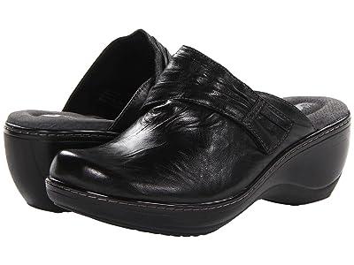 SoftWalk Mason (Black Vintage Waxy Wrinkled Leather) Women
