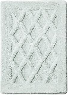 MICRODRY Luxury SoftTip, Charcoal Infused Memory Foam Bath Mat with GripTex Skid-Resistant Base (17x24, Aqua)