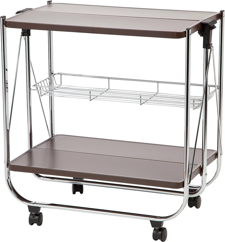 IRIS Foldable Serving Cart, Brown