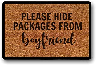 LSS Trading Please Hide Packages Doormat/Boyfriend Doormat/Funny Doormat/Funny Welcome Mat/Hide Packages Door Mat/Spring Doormat/Amazon 23.6