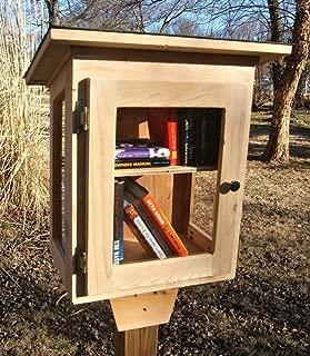 Tiny Library, with window walls. Handmade using Cedar
