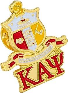 Desert Cactus Kappa Alpha Psi Fraternity Crest Over Letter Lapel Pin Enamel Greek Formal Wear Blazer Jacket Nupe (Crest Over Letter Pin)