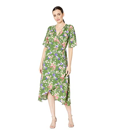 B Collection by Bobeau Orna Wrap Dress (Ivy Meadow Floral) Women