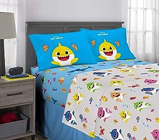 Franco Kids Bedding Super Soft Microfiber Sheet Set, 4 Piece Full Size, Baby Shark