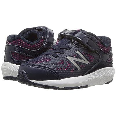 New Balance Kids KV519v1I (Infant/Toddler) (Pigment/Pink Glo) Girls Shoes