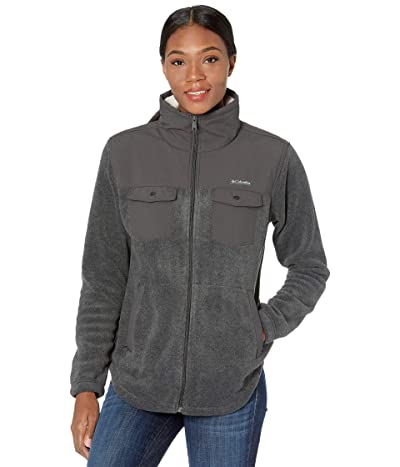 Columbia Benton Springstm Overlay Fleece (Charcoal Heather/Shark 1) Women