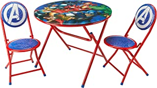 Marvel Avengers 3 Piece Foldable Round Table and Chair Set, Ages 3+