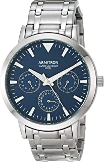 Armitron Men's Multi-Function Silver-Tone Bracelet Watch, 20/5444NVSV