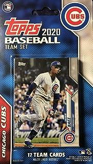 Chicago Cubs 2020 Topps Factory Sellado Edición Limitada 17 Cartas Equipo Set con Kris Bryant y Javier Baez Plus