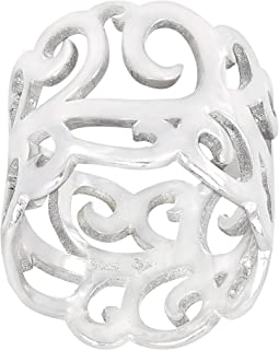 Silpada 'Eden' Filigree Band Ring in Sterling Silver